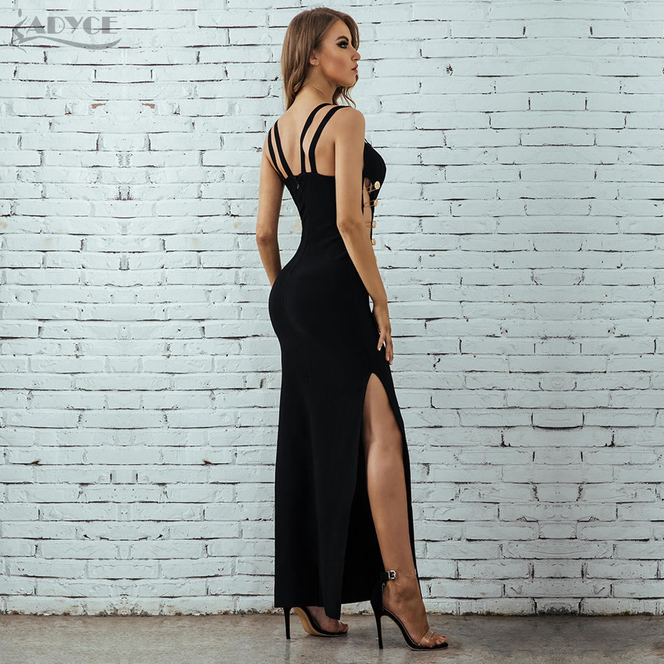 Robe Femmes 2018 Verano Célébrité Club Évider D'été Robes Bandage Black De Bodycon Spaghetti Sexy Soirée Adyce Sangle qTxwUt5C