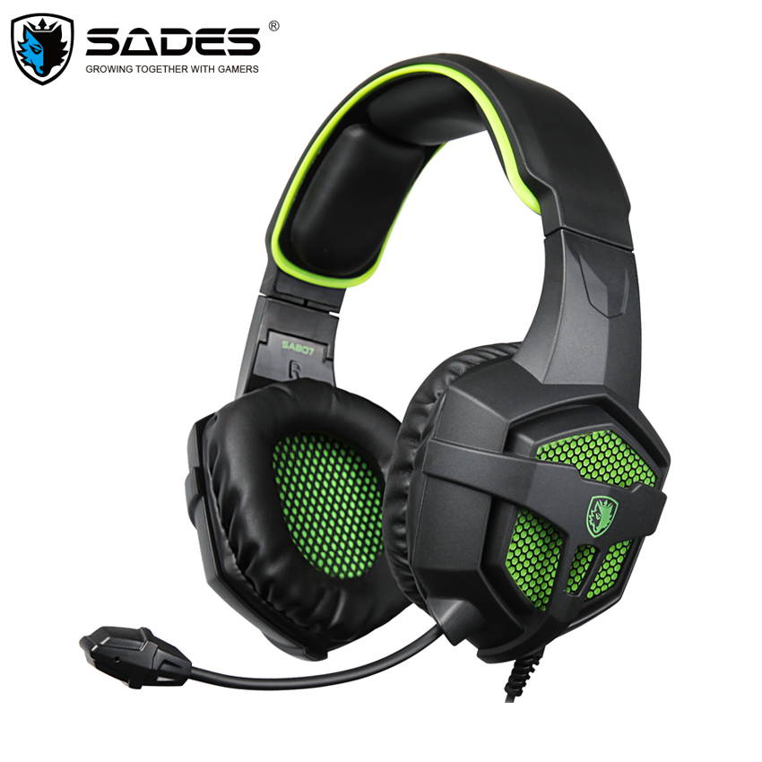 SADES SA807 Gaming Headset Headphones 3.5mm Stereo Headset Gamer with Microphone for PC 2016 New Xbox one PS4