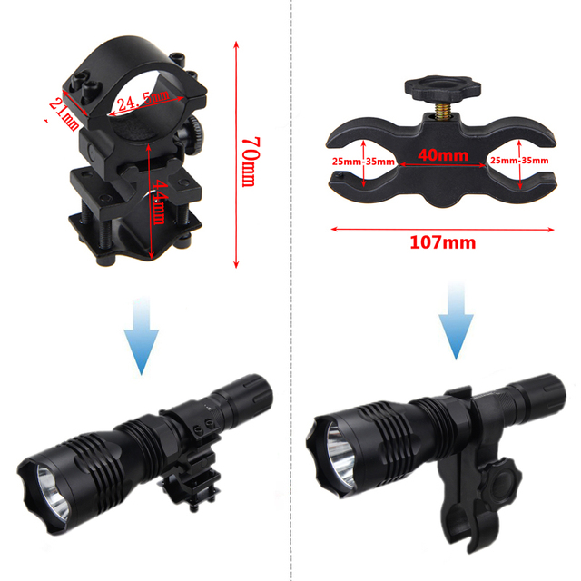 VA-802 Scout Light Tactical LED Hunting Flashlight 20mm Picatinny Armas Keymod Rail Rifle Mount Weapon light For Outdoor Sports