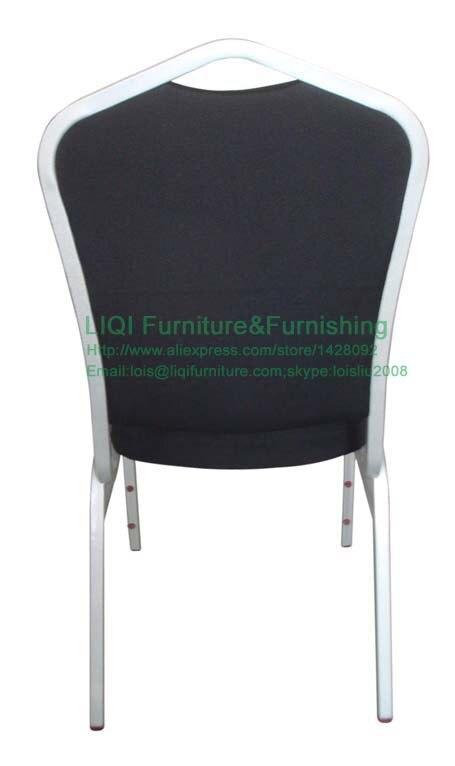 Индивидуальный стальной стул для банкета, образец гостиничного обеденного стула