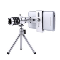 12X Zoom Camera Telephoto Telescope Lens Mount Tripod Kit For IPhone Xiaomi Samsung Huawei HTC Universal