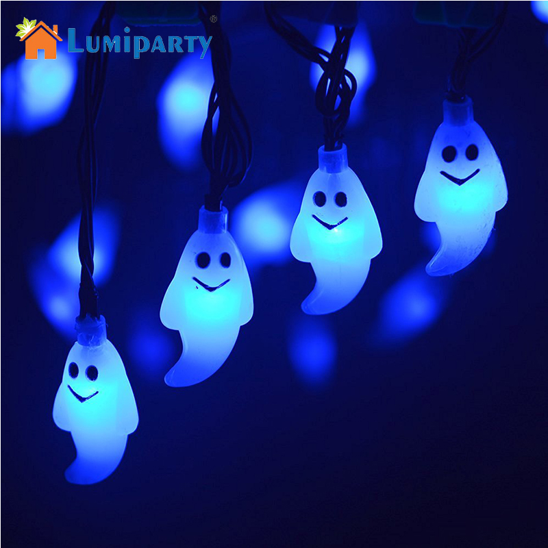 lumiparty halloween light outdoor solar string lights ghost 30led christmas lights outdoor halloween decoration outdoor - Solar Halloween Decorations