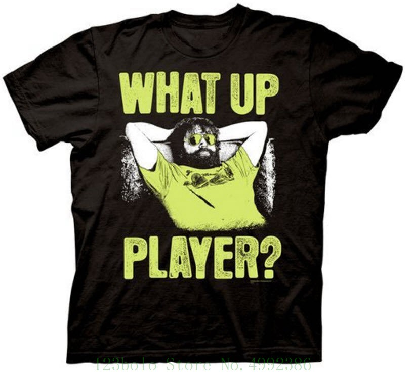 Adult Black Comedy Movie The Hangover Part Iii Alan What Up Player T Shirt Tee Cool Hot Sale New Men's T Shirt image