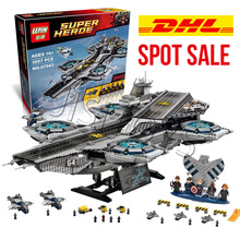 3057Pcs LEPIN 07043 Super Heroes The SHIELD Helicarrier Model Building Kits Minifigure Blocks Bricks Toys brinquedos