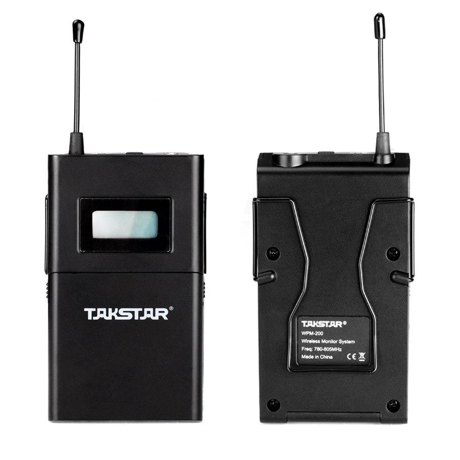 卸売新 Takstar 耳プロフェッショナルステージワイヤレスモニターシステムで wpm 200 2 セット/ロット 2 受信機 2 トランスミッタ 2 イヤホン  グループ上の 家電製品 からの 電話用イヤホン & ヘッドホン の中 2