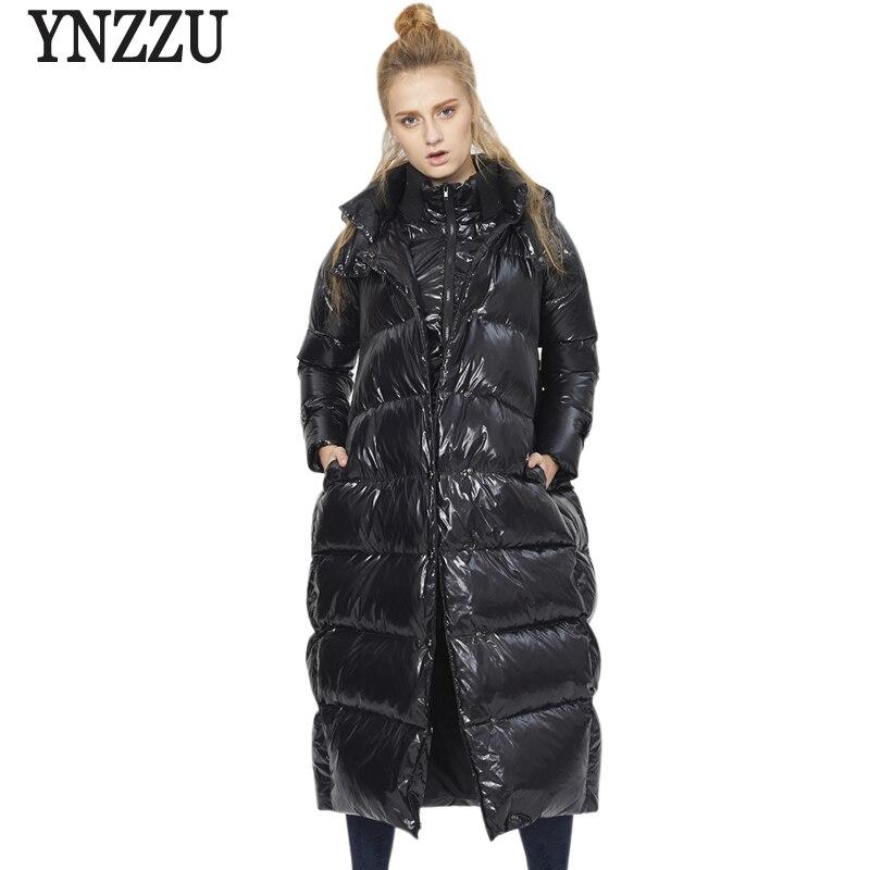 Marque 2020 femmes hiver doudoune Chic longue épaisse chaud à capuche manteaux en vrac haute qualité femme neige Outwear grande taille 5XL