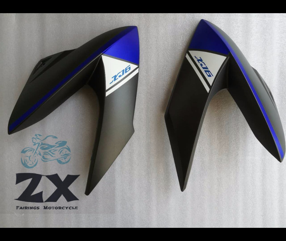 Fairings Injection For YAMAHA XJ6 Yamaha XJ6 2009-2012 09 10 11 12 life and right ZXMT matte blue white bl Bodywork Fairing