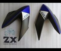 Fairings Injection For YAMAHA XJ6 Yamaha XJ6 2009 2012 09 10 11 12 life and right ZXMT matte blue white bl Bodywork Fairing