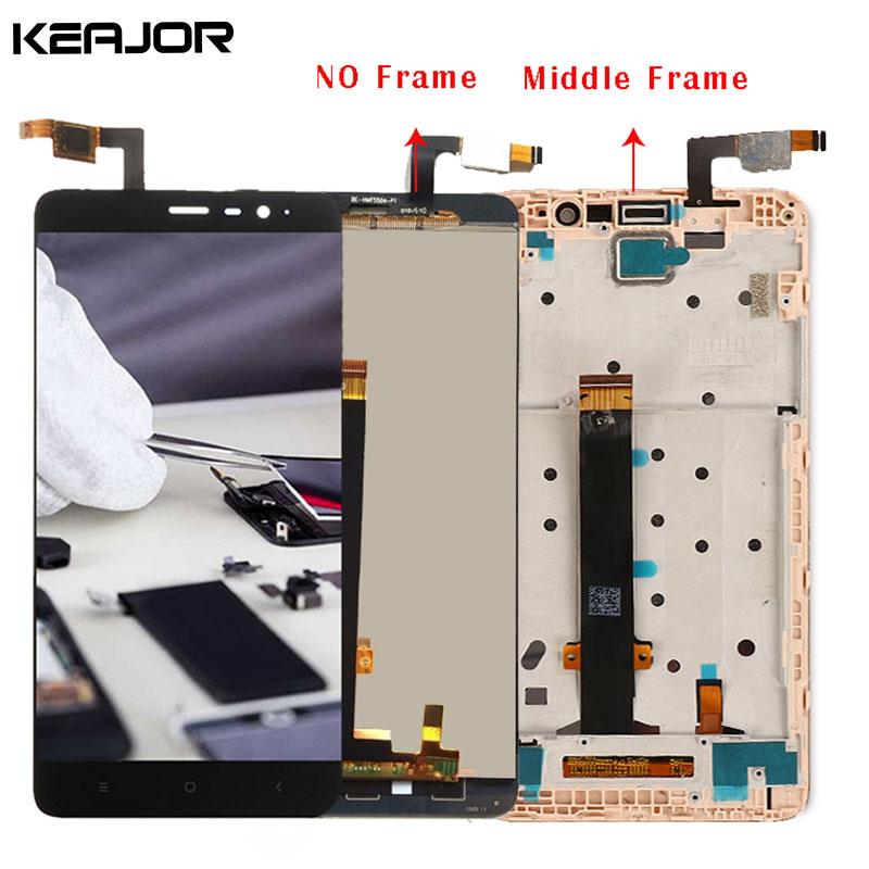 Für Xiaomi Redmi Note 3 Lcd-bildschirm TestedAAA Display mit Mittelrahmen/Weichen keybacklight für Redmi Hinweis 3 Pro/Prime 5,5''