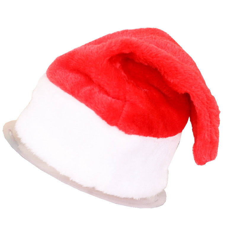 0c640d7a5c77d3 ... promo code for christmas party santa hat red white cap for children  adult santa claus costume