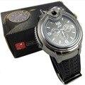 Irisshine I06 marca de lujo Nuevos Relojes de Cuarzo de Los Hombres Militar Reloj Encendedor de Butano Recargables Gas Cigarro por mayor