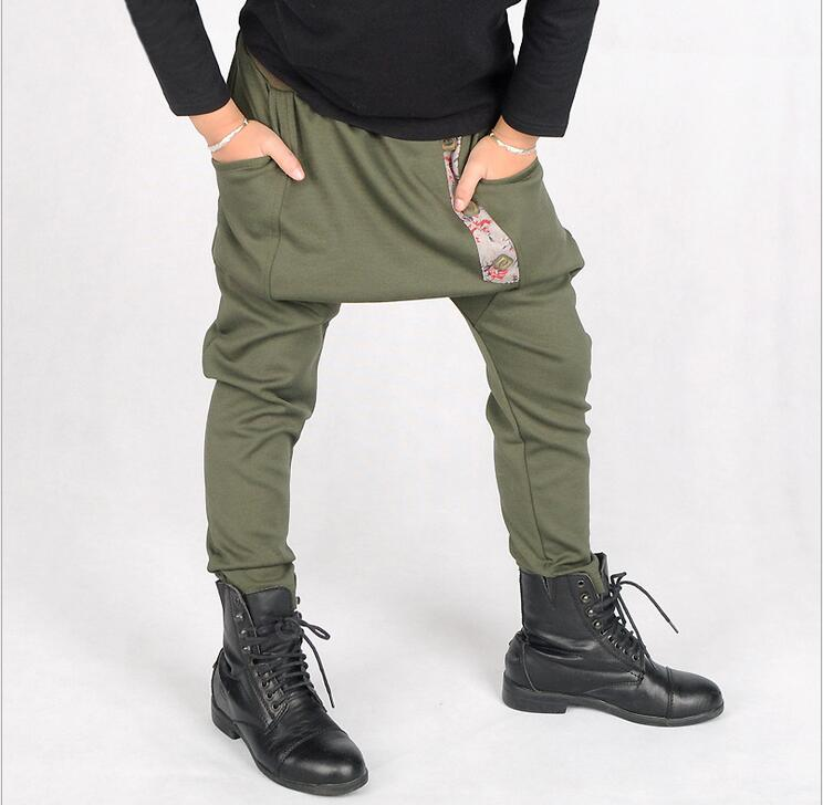 Nueva llegada Moda Niños Algodón Ejército Verde Flor Pantalones - Ropa de ninos