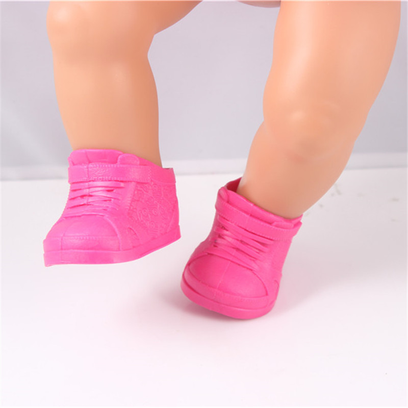 Doll accessories,Pink shoes fit for 43cm doll Baby Born zapf Americal Girls Children best Birthday Gift Christmas gif