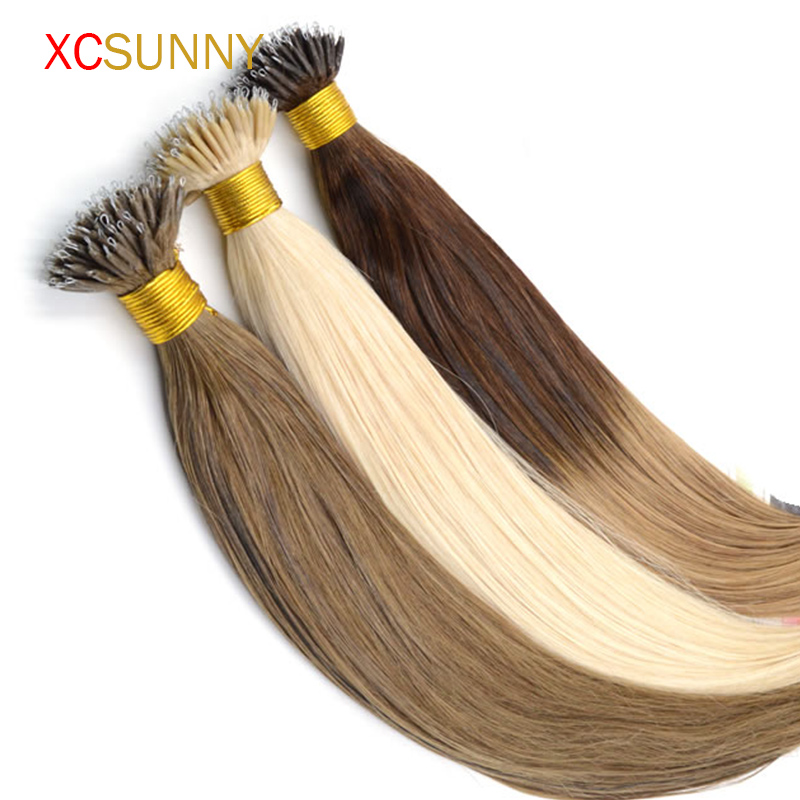Hair straightener wet hair picture more detailed picture about xcsunny ombre two tone dip dye nano loop natural hair extensions 18201g pmusecretfo Choice Image
