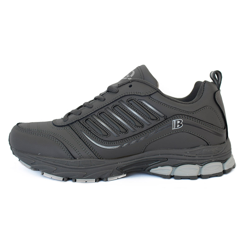 Foto from the right BONA popular running sneakers for men. Men's athletic shoes for outdoor gray color