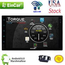 "Andriod 6.0 2Din 7"" Car Stereo GPS Radio WiFi 3G Mirror DVD Player CAM Car styling cassette tape recorder PC In Center console"