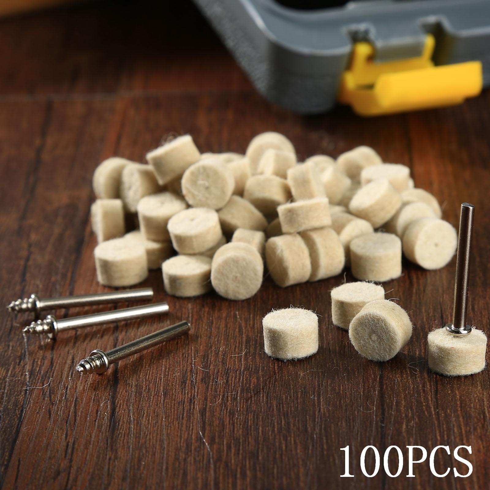 100 pezzi Dremel accessori 13 mm lana feltro lucidatura lucidatura - Utensili elettrici - Fotografia 6