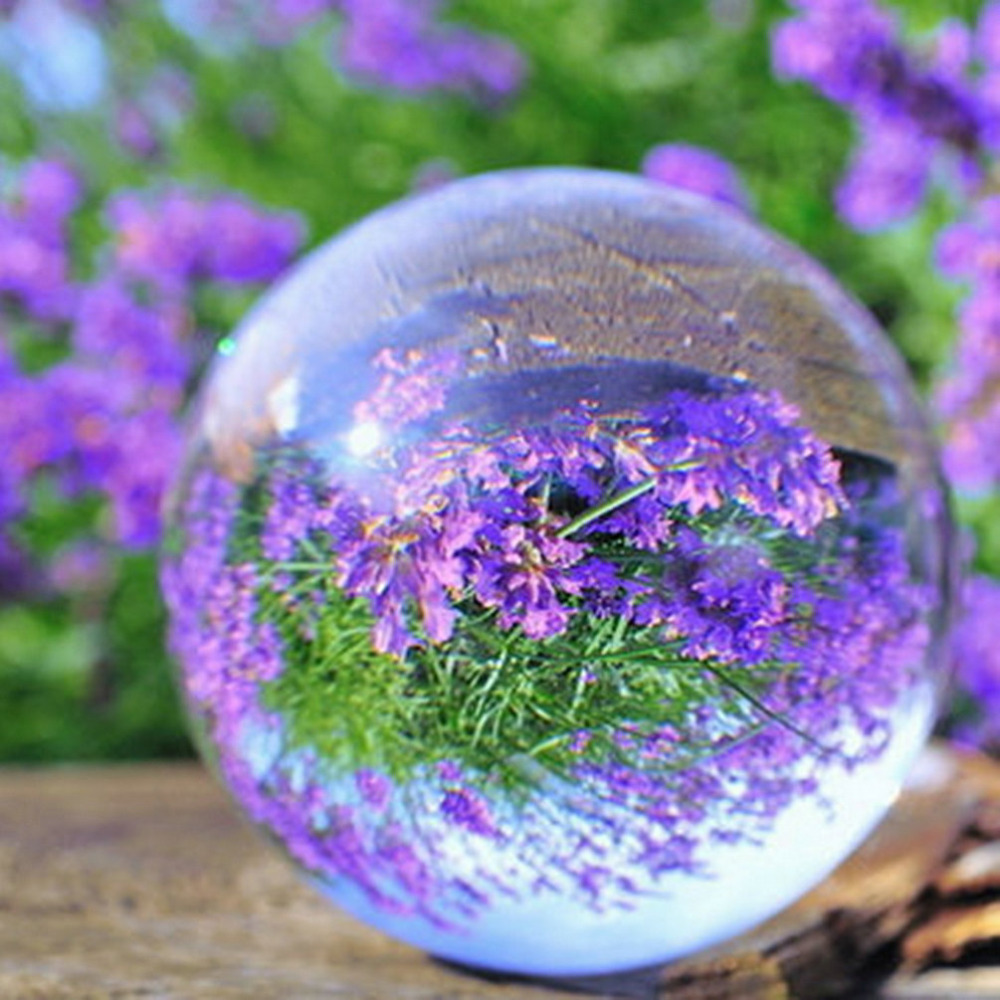 10cm Clear Glass Artificial Crystal Healing Ball Home Decoration Gift For Christmas