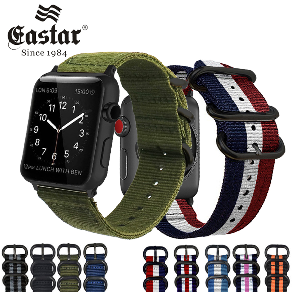 Eastar Hot Sell Nylon Watchband for Apple Watch Band Series 3/2/1 Sport Leather Bracelet 42 mm 38 mm Strap For iwatch Band комплект ковриков в салон автомобиля novline autofamily mitsubishi pajero sport 1997 2008