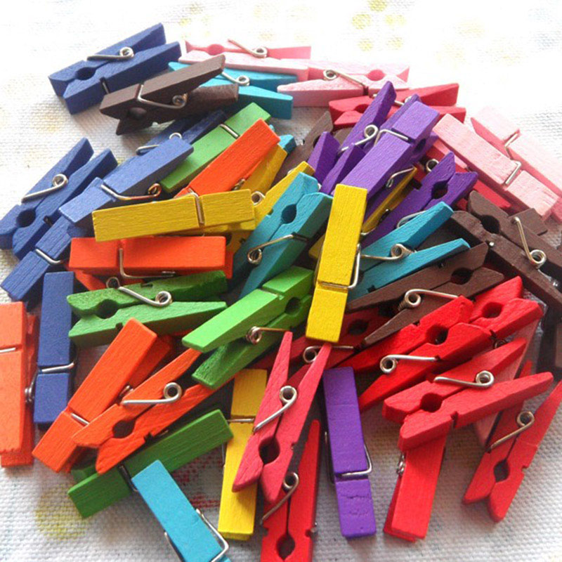 10pcs/lot Mini Cute Colorful Wood Memo Paper Clips For Message Office School Supplies Korean Stationery Student 960
