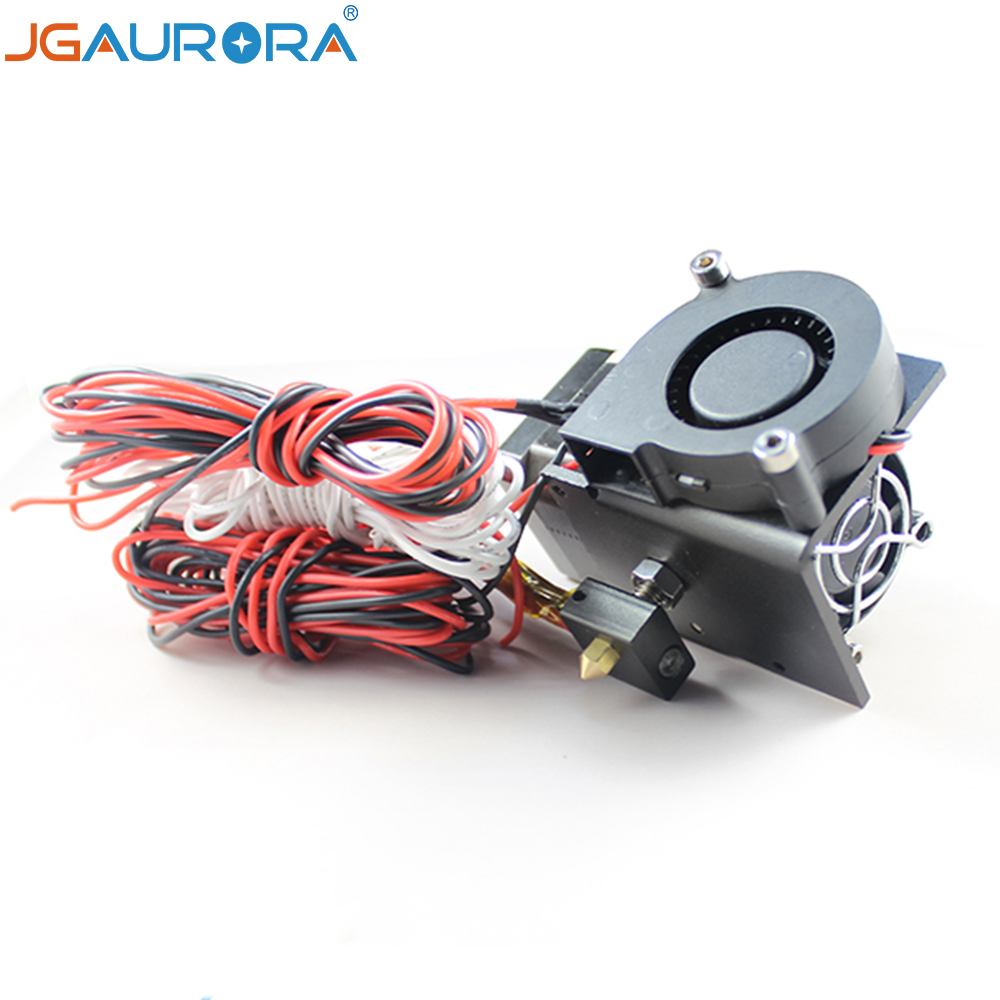 JGAURORA MK8 Extruder for FDM 3d printer Z-603S Hot End with Heating Tube and Thermistor Extruder Stepper Motor and 0.4mm nozzle geeetech fdm me creator mini 3d printer mk8 extruder black 1 75mm filament 0 3mm nozzle