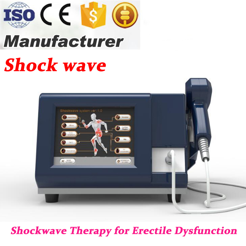 6 Bar Pneumatic Shock Wave Machine Physiotherapy For Erectile Dysfunction Extracorporeal Shock Wave Therapy For Pain Relief in Toiletry Kits from Beauty Health