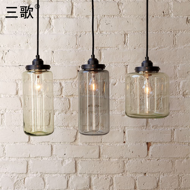 loft vintage American glass bottle pendant light single head industry retro lamp for cafe   hanging lamp loft american edison vintage industry crystal glass box wall lamp cafe bar coffee shop hall store club