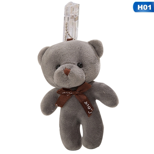 10 Colors - HOT Wedding Love Bowknot Bear Stuffed Animal Plush Toy Doll  Gift Key Chain Bear Baby Toys