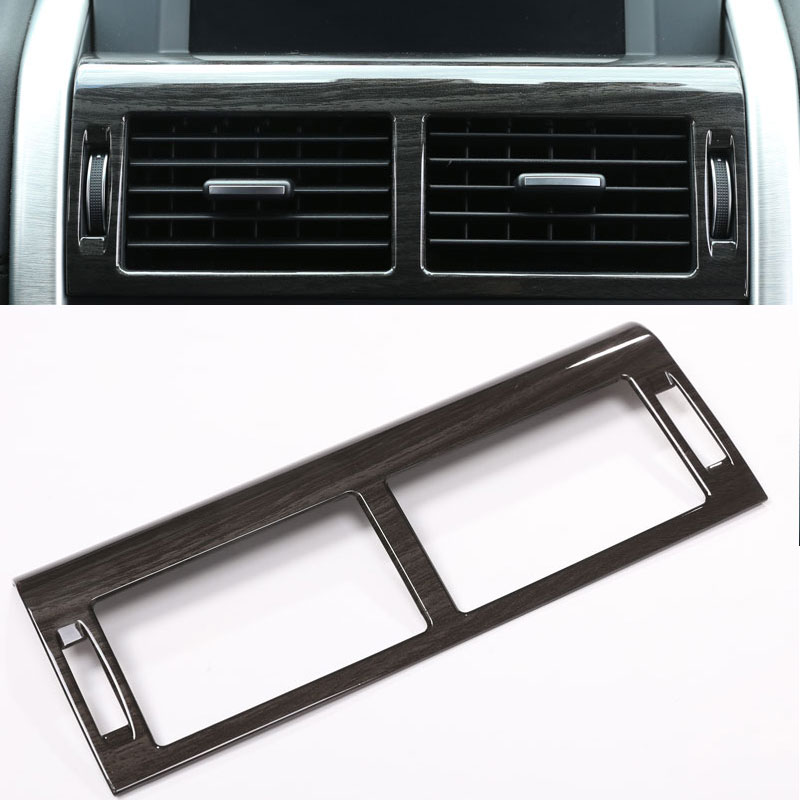 Center Control AC Outlet Vent Frame Cover Trim Stickers For Land Rover Discovery Sport Car Accessories ABS Dark Wood 2015+ newest for land rover discovery 4 lr4 accessories abs dark wood grain center console ac vent cover trim stickers for lhd