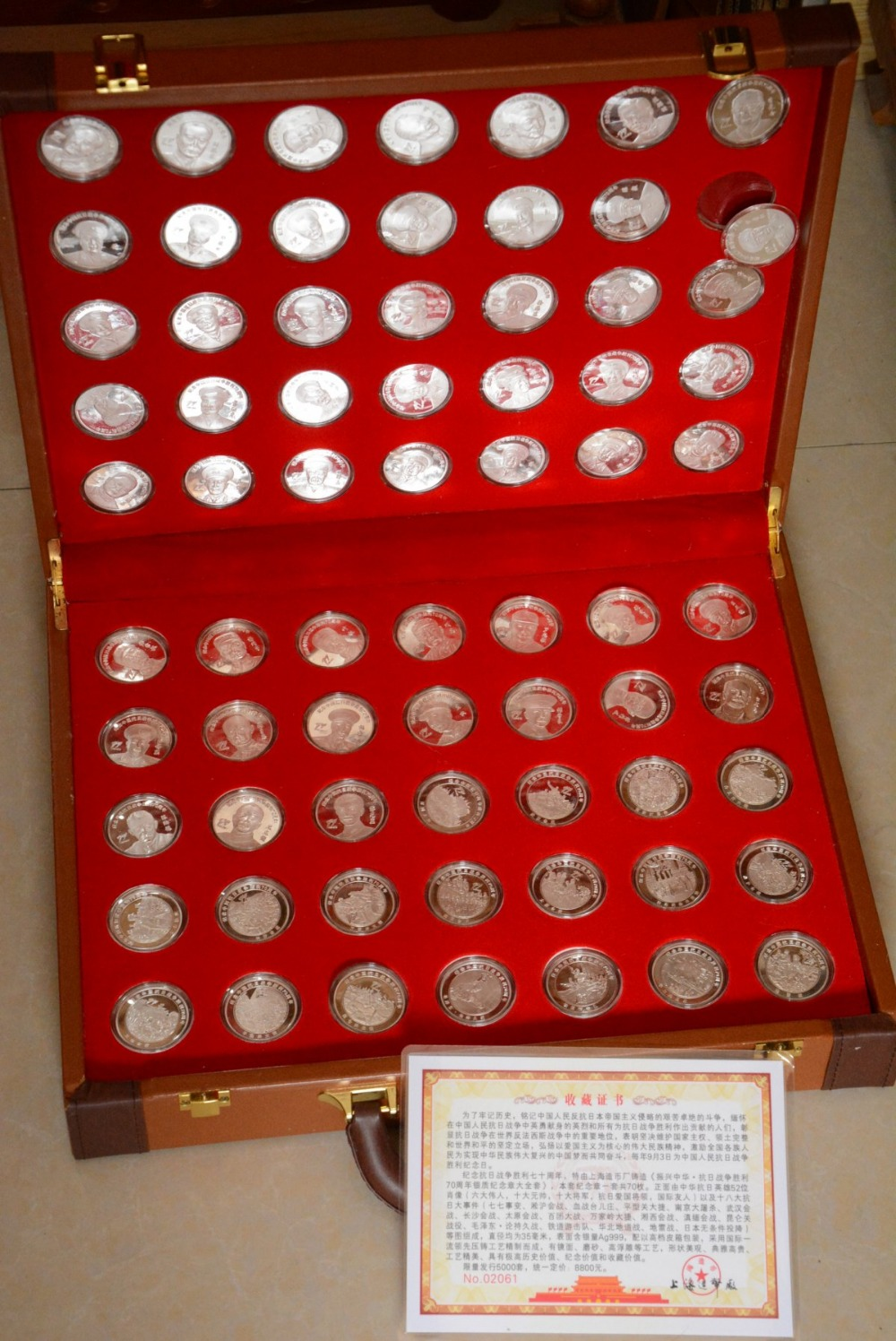 Us 20241 Rare Chinese Government Issued Wwii List Of Famous Chinese Generals And War Silver Coin70 Piecesetfree Shipping In Non Currency Coins