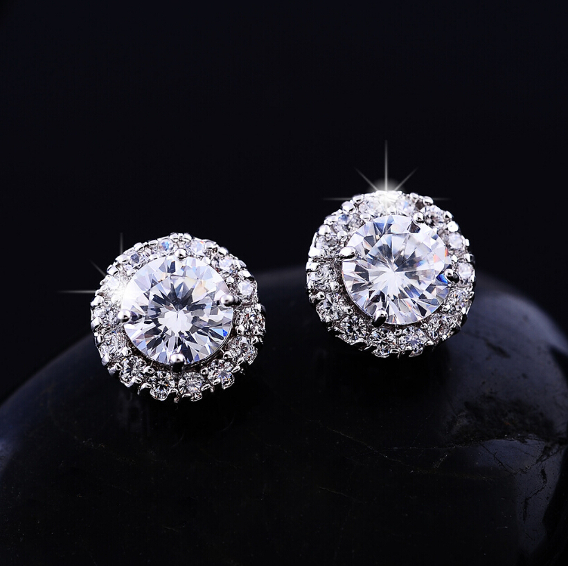 New Fashion Crown Stud Earrings Flower Jewelry Best Gift For Woman Party Wedding Brincos E40 In From Accessories On