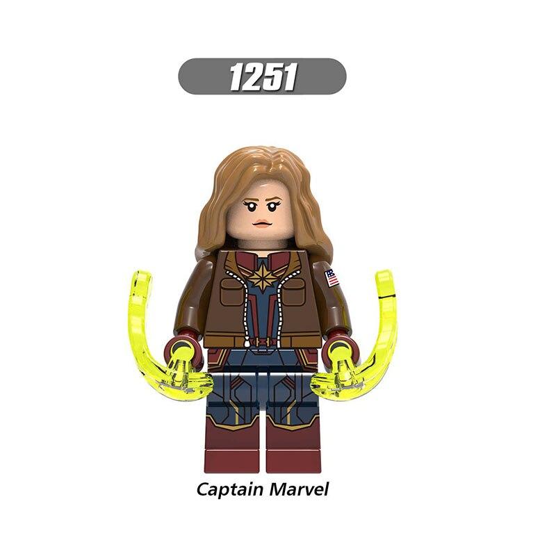 Single Sale Legoinglys Enlighten  Avengers 4 Endgame Mini Figure Thor Captain Marvel Bricks Learning Toys For Children Gifts