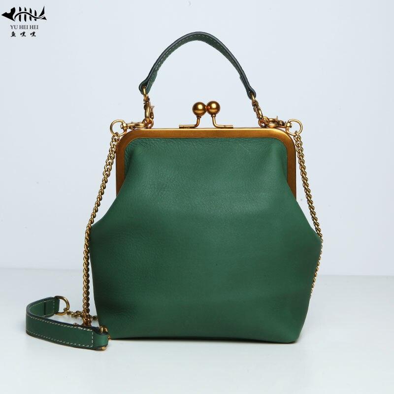 2019 Nieuwe Kiss Lock Zakken Mode Vintage Designer Bag Vrouwen Lady Pu Lederen Chain Schouder Crossbody Tas Vrouwen Handtassen Tas