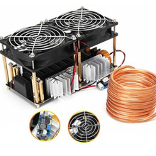 1800W ZVS Induction Heater Induction Heating PCB Board High frequency Heating Machine Melted Metal + Coil Mayitr+ Crucible+Pump