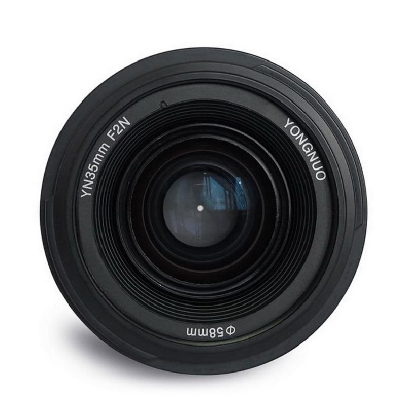 YONGNUO YN 35mm F2 Camera Lens YN35MM Lentilles 1:2 AF MF Large-Angle Fixe Prime Auto Focus Lens pour Nikon Canon D5500 EOS