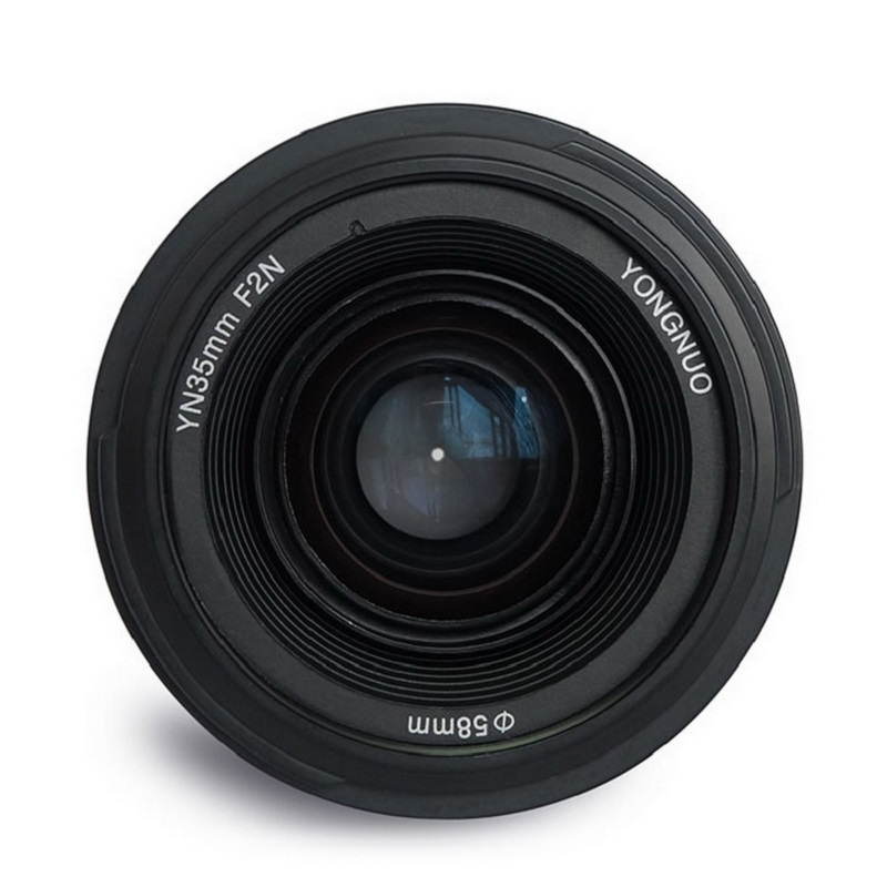 YONGNUO YN 35mm F2 Camera Lens YN35MM Lenses 1:2 AF MF Wide-Angle Fixed Prime Auto Focus Lens for Nikon Canon D5500 EOS цена