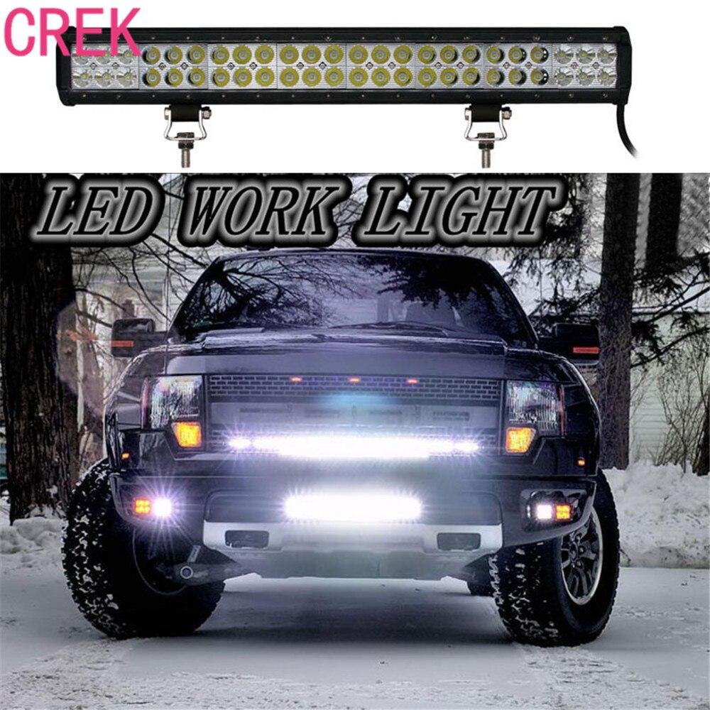 CREK 22inch 144W 9600LM 12V 24V Car Spot/Flood Work Lights LED Work Light Bar Combo for Off road SUV ATV Truck Car LED Dual Rows