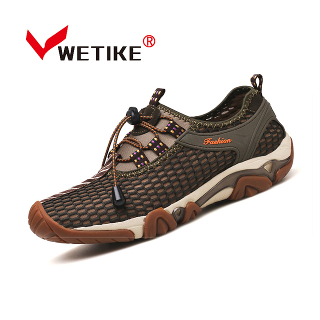 2017 New Spring Summer Men S Hiking Shoes Breathable Air Mesh Quick Dry Beach Walking Sports