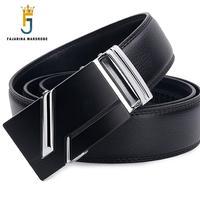 Men S Formal Style Trap Casual Cowhide Genuine Leather Automatic Black Belts For Men Belts Mens