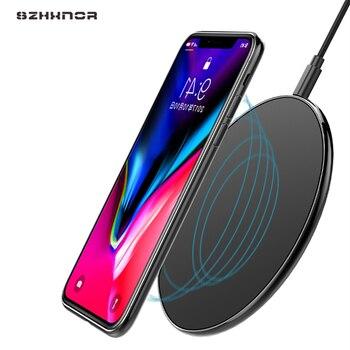 10W Qi bezprzewodowa ładowarka samochodowa do iPhone X Xs MAX XR 8 plus szybkie ładowanie dla Samsung dla S10 S9 A50 a70 uwaga 9 8 10 ładowarka do telefonu na USB Pad