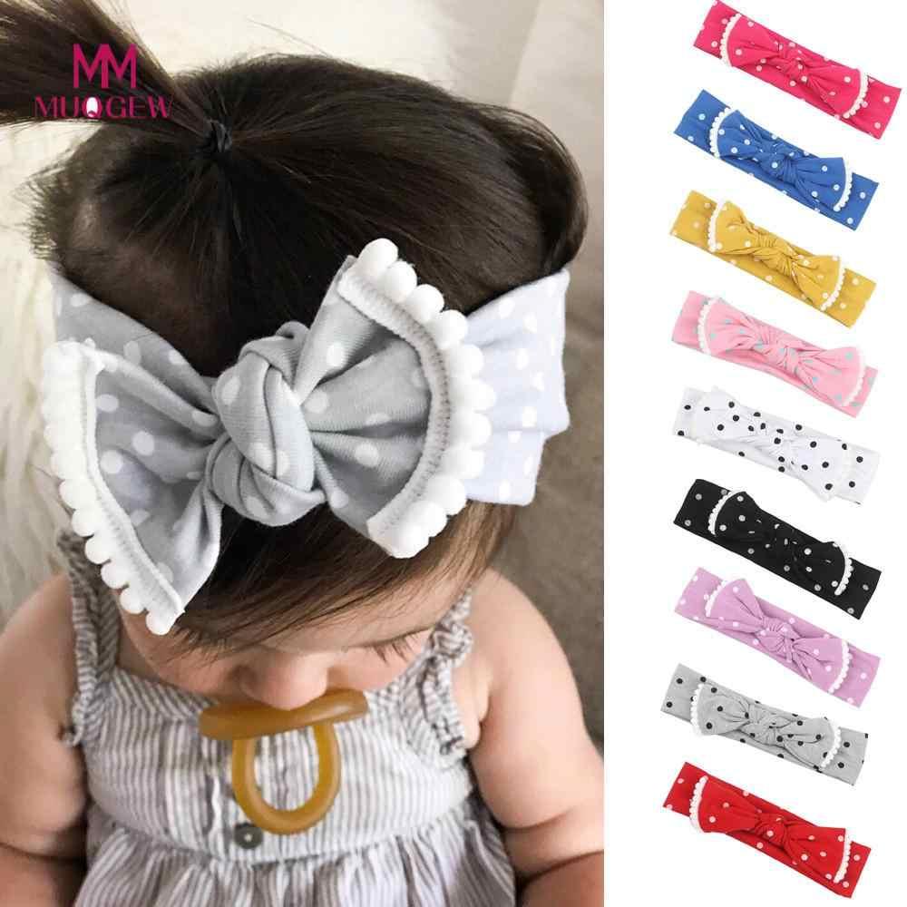 MUQGEW 2018 ใหม่ 1 ชิ้นเด็กน่ารักเด็กวัยหัดเดินทารก Bowknot Headband ยืด Hairband Headwear เด็ก Head Bands อุปกรณ์เสริมผม