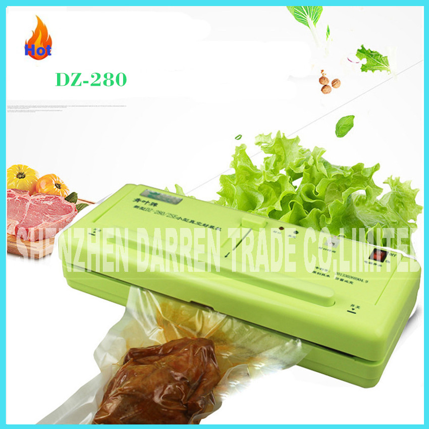 DZ-280/2SE household Food Vacuum Sealer packaging machine Film Sealant Vacuum Sealer Wet and dry dual-use with free Vacuum Bags philips brl130 satinshave advanced wet and dry electric shaver