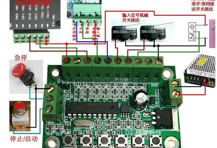 Бесплатная доставка два оси связь линия интерполяции контроллер шагового двигателя