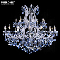 Blue Color Maria Theresa Crystal Chandelier Lamp/light/Lighting Fixture Large White Chandelier Lusters D1200mm H1000mm