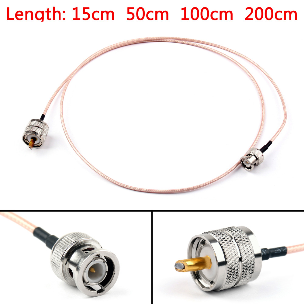Areyourshop RG316 Cable BNC Male Plug To PL259 UHF Male Crimp Jumper Pigtail 6ft FPV 15cm 50cm 100cm 200cm 50Ohm CableAreyourshop RG316 Cable BNC Male Plug To PL259 UHF Male Crimp Jumper Pigtail 6ft FPV 15cm 50cm 100cm 200cm 50Ohm Cable
