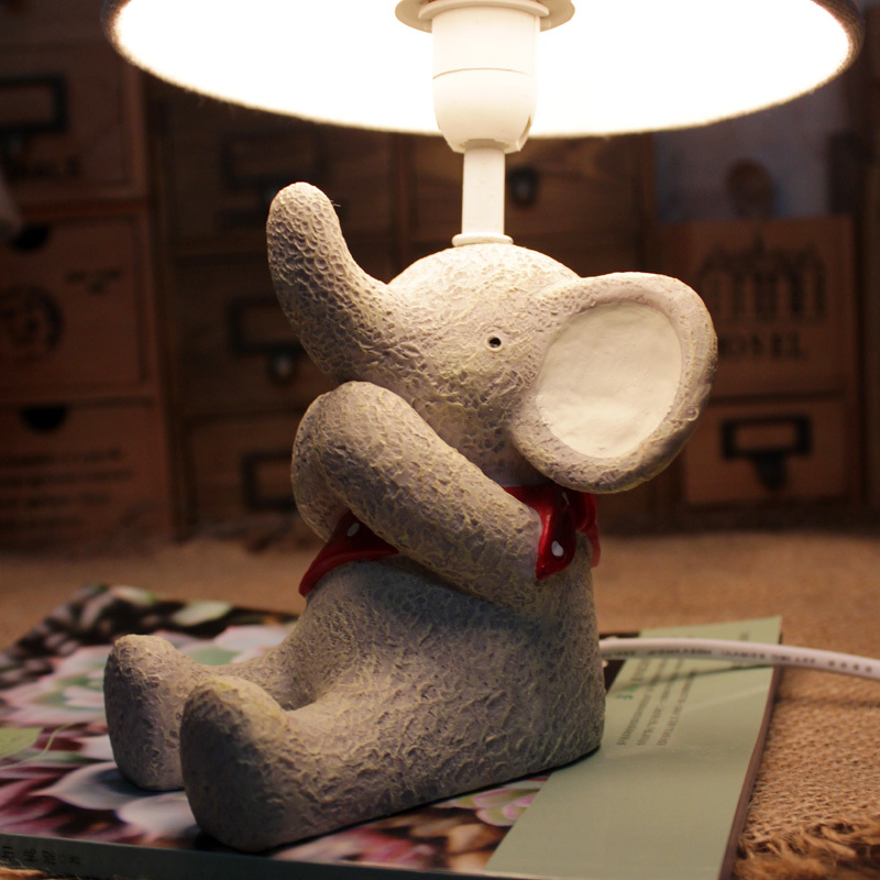 small animal elephent doll children home decoration table lamp bedside lamp desk lamp gifts for kids