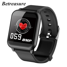 Betreasure Smart Watch Men Blood Pressure IP67 Waterproof Fitness Tracker Clock Smartwatch For IOS Android Wearable Devices