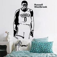 hot deal buy new arrival vinyl wall art sticker basketball star russell westbrook wall stickers wall decoration stickers wall decor mural