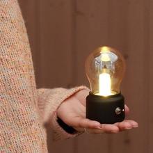LED Night Light Bulb USB Rechargeable Vintage Bedroom Bedside Desk Lamp Home Decoration Lights DC156 400 amtu