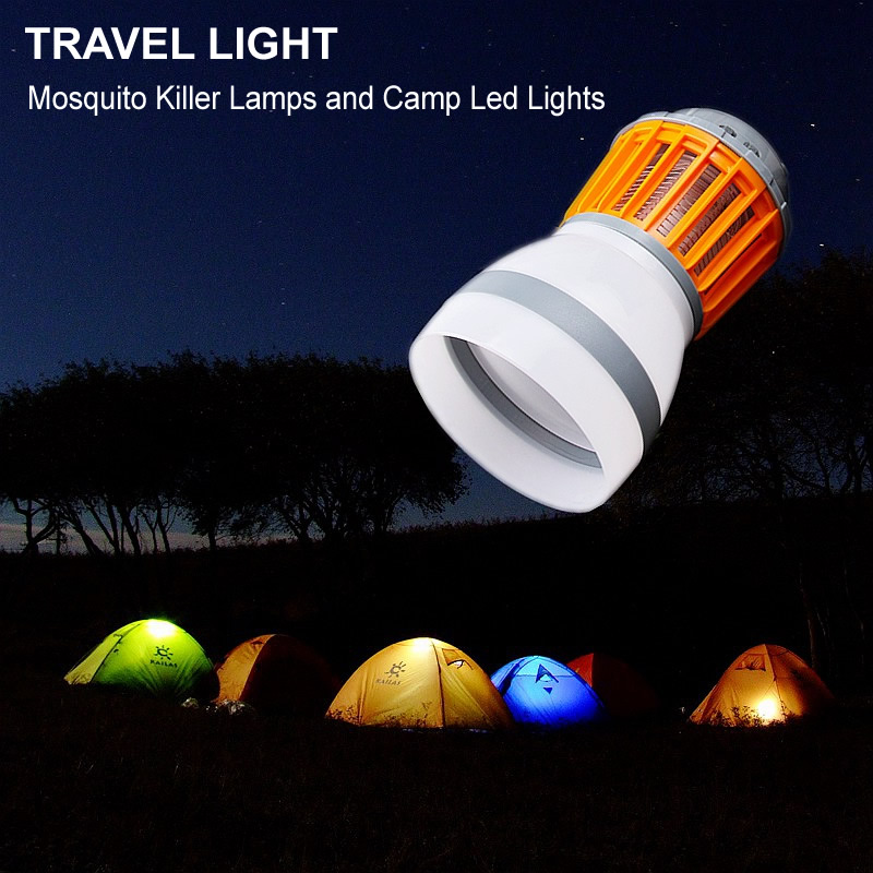 Outdoor Camping Lamp Tent Light and Mosquito Killer Lamps 3 Mode Adjustable Lantern Multifunction Camping Travel light